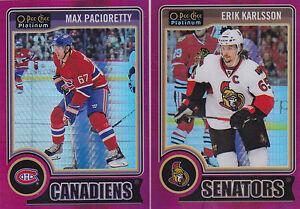 14-15-OPC-Platinum-Erik-Karlsson-135-Red-Prism-O-Pee-Chee-2014-Senators