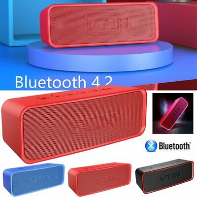 VTIN Wireless Bluetooth Speaker Portable IPX6 Waterproof with Extra Bass Classic