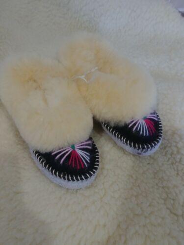 UK13//EU32 lunghezza 20cm//7.9 Pollici Bambini sheppskin Pantofole Mocassini