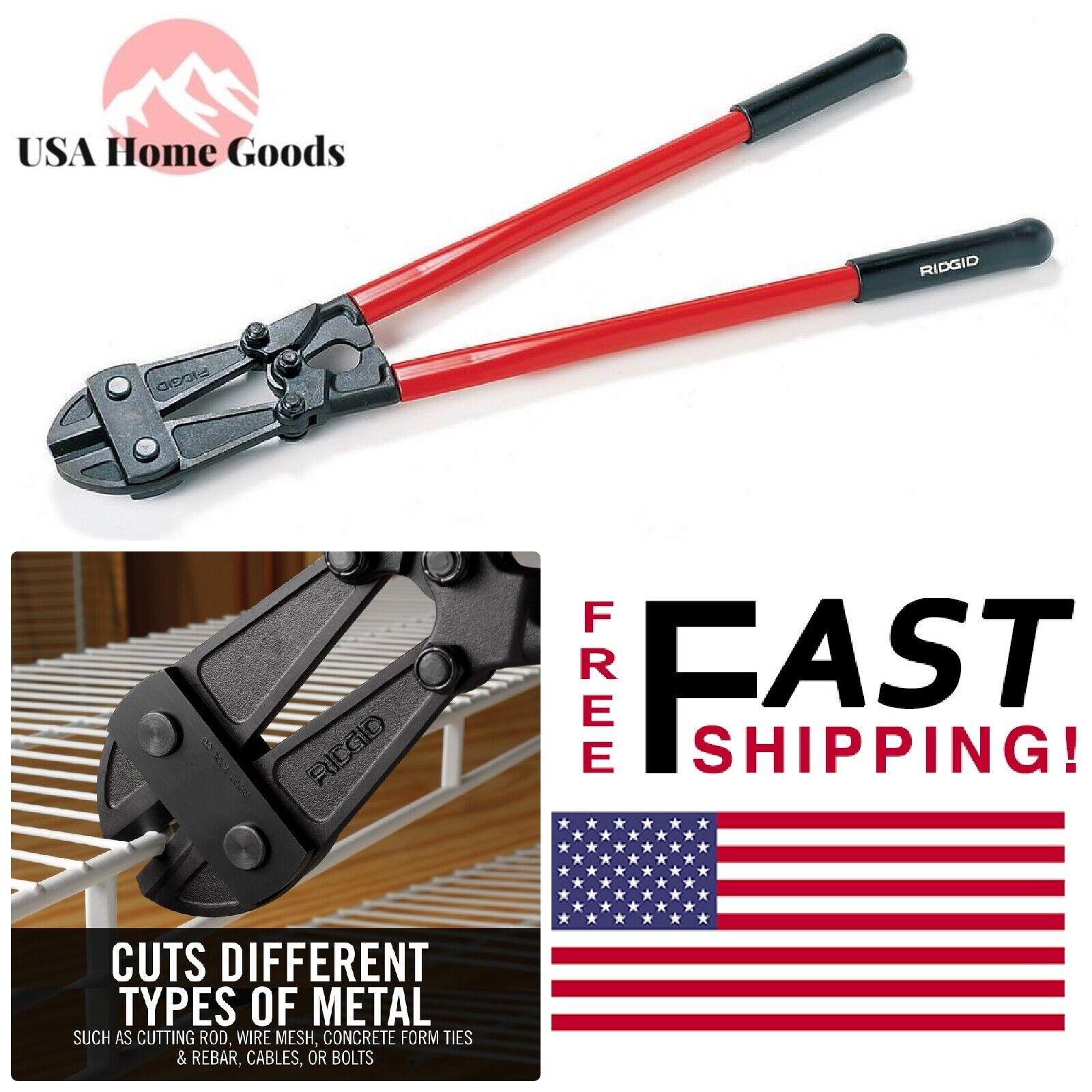 RIDGID 30  Bolt Cutter Heavy-Duty Alloy Steel Jaws Cutting Tool W  Comfort Grip