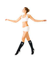 2pairs Copper Fit Medical Compression Socks Support Running Nurses Office Worker