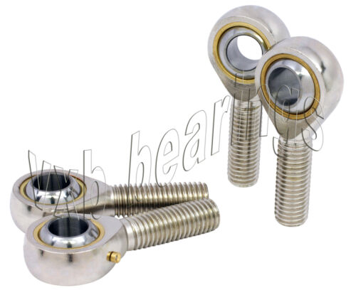 4 Male Tie Rod End Link Heim Joint 12mm 2Right+2Left