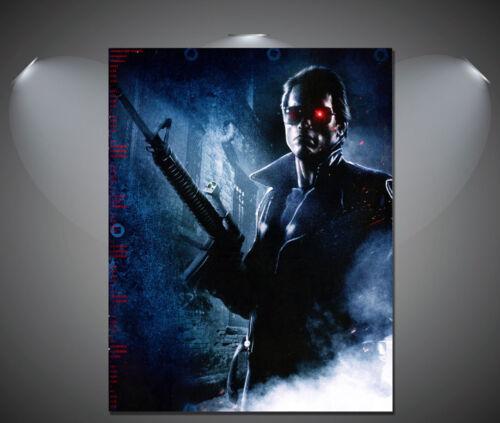 A0 A1 A2 A3 A4 The Terminator Arnold Schwarzenegger Vintage Movie Canvas Print