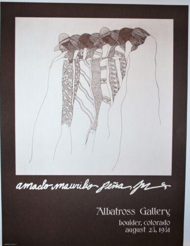 1981 Amado Pena Nightdancers Albatross Gallery Bolder Colorado August 28