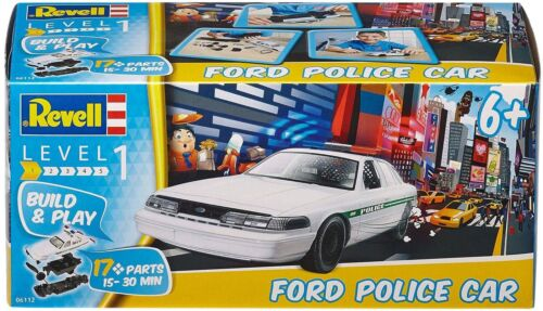 Build /& Play ab 6 Jahre Ford Police Car Sportwagen 1:25 Revell 06112