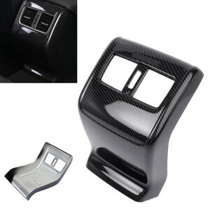 Carbon-Fiber-Style-Rear-Armrest-Box-Air-Vent-Outlet-Trim-For-Honda-Accord-2018