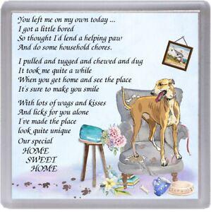 Greyhound-Dog-Coaster-034-HOME-SWEET-HOME-Poem-034-Designed-by-Starprint