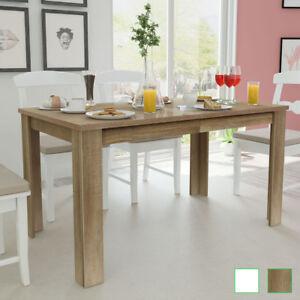 vidaXL Mesa de Comedor Blanca/Roble 140x80x75cm Mesa para Cocina ...