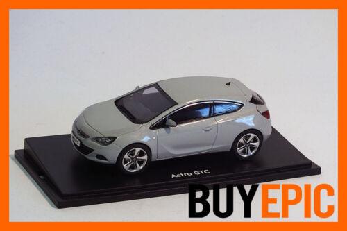 Motorart Opel Astra GTC Coche Modelo 1:43 Mineral Blanco Dealer, Mar Shell