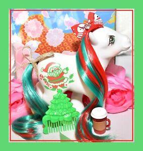 My-Little-Pony-MLP-G1-Vtg-Christmas-Holiday-Pony-Merry-Treat-amp-Original-Comb