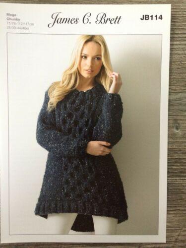 "28-46/"" Femmes Super Chunky tunique James Brett Knitting Pattern JB114"