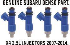 GENUINE SUBARU X4 DENSO FUEL INJECTORS 565CC IMPREZA WRX STI 2.5 EJ25 BRAND NEW