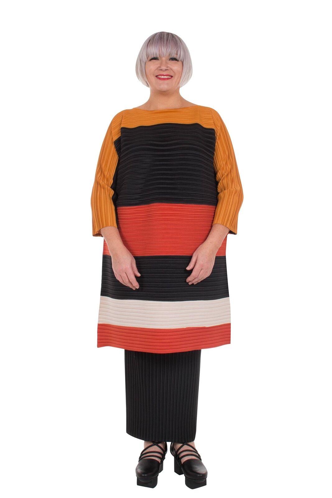 Idaretobe Stripe Righe Con Pieghe Tunica vendita vendita vendita prezzo consigliato  .00 Taglie  14-16 16-18 20-22 b08c18