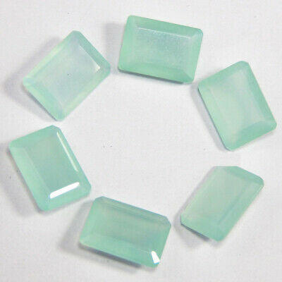 Details about  /Finest Lot Natural Blue Chalcedony 4X6 mm Octagon Faceted Cut Loose Gemstone