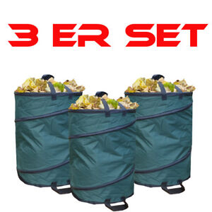 3er-SPARSET-Gartenabfallsack-wetterfest-Nylon-110L-Gartensack-Laubsack-Behaelter