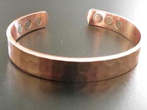 Magnetic Bracelet, Pure Copper Large Wrists 6x2500 Neodymium Magnets 15000 Gauss
