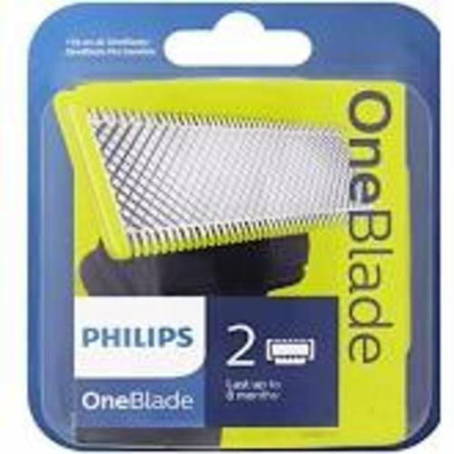 PHILIPS oneblade lame di ricambio-confezione da 2-si adatta a tutte le maniglie una lama
