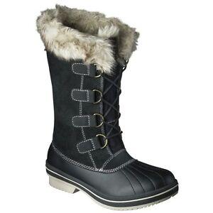Women-039-s-Merona-Neida-Snow-Boots-Black