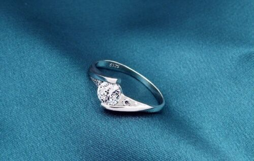 Silberring im Satin-Beutel Silber Anlaufgeschützt Verlobungsring Love Liebe ring