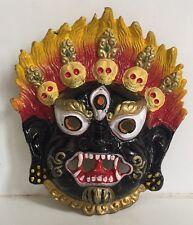 Mahakal Metal face mask wall hanging  /scary head /Kaali/nazar battu Haloween