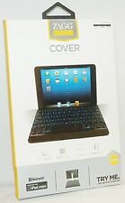 "Zagg Keys iPad 1 Mini BLACK Full Keys Bluetooth 7"" Keyboard Case Stand Cover yo"