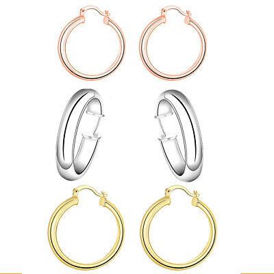 Eternity Gold 37 mm Polished Tube Hoop Earrings in 10K Gold
