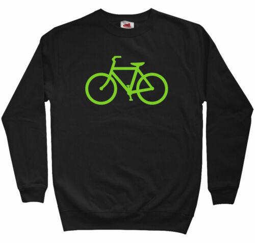 Bike Route Sweatshirt Men S to 3XL Cycling Biking Bicycle Fixie Crewneck