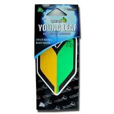 Treefrog Wakaba Young Leaf Black Squash JDM Air Freshener