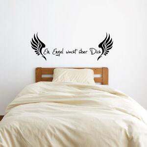 Details zu Wandtattoo Sprüche Zitate Schlafzimmer Wohnzimmer - Ein Engel  wacht über A221