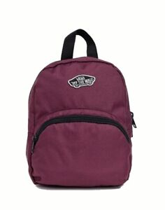 VANS Off The Wall GOT THIS MINI BACKPACK Travel Play Beach Mall Purse PRUNE
