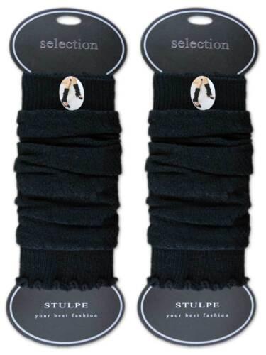 123 Paia Scaldamuscoli NERO Wollweiß Jeans donna gamba Scaldamuscoli nel design a maglia