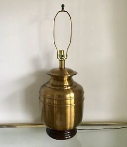 Vintage Knob Creek Brass Table Lamp Large Traditional Underwriters