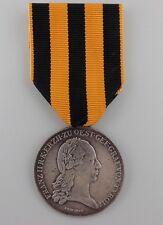 AUSTRIA EMPIRE ~ 1797 SILVER MERIT MEDAL FOR COMBAT AGAINST NAPOLEON ~ SUPER