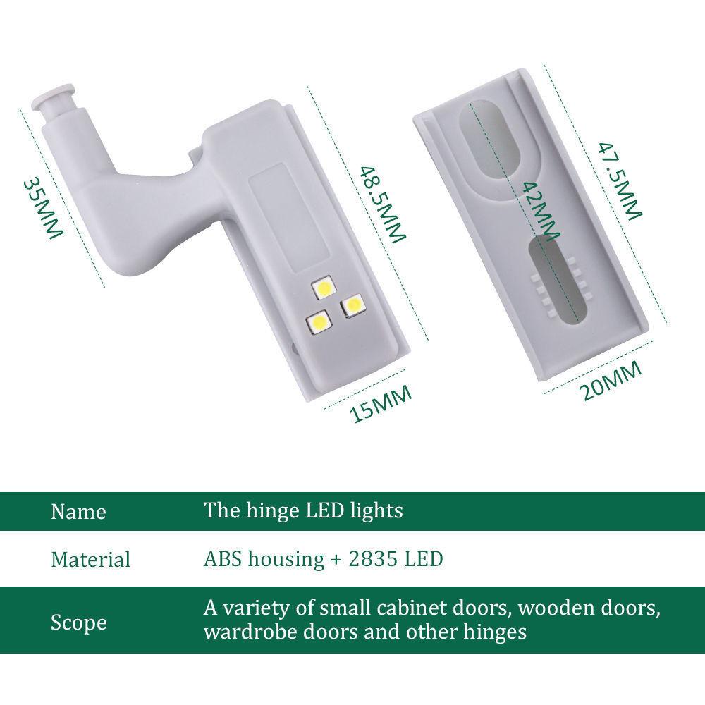 10 PACK Scharnier LED Sensor Licht für Kleiderschrank Schrank Home ...