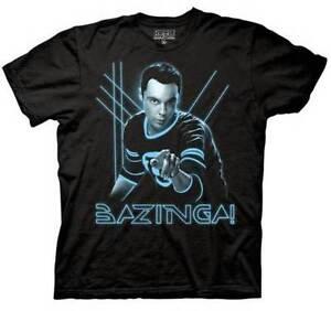 THE-BIG-BANG-THEORY-GLOW-GLOWING-BAZINGA-SHELDON-t-shirt-tee-MEDIUM
