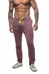088416608 Mens Workout Joggers Slim Fitted Sweat Pants Bodybuilding Gym ...