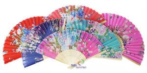 Aggressiv 30 X Handfächer Aus Stoff Und Bambus Umsatzbringer,0,96€/stk Kostüme & Verkleidungen