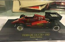 """DIE CAST """" FERRARI 126 C2B - 1983 PATRICK TAMBAY """" 1/43  FERRARI F1"""