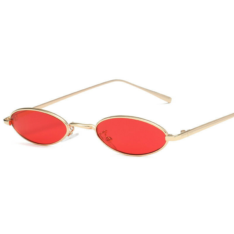 VINTAGE RETRO SMALL OVAL FRAME SUNGLASSES WOMENS SHADES TRENDY TINY GLASSES US