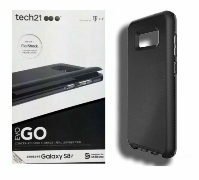 competitive price 4db82 bfed8 tech21 EVO Go Leather Case for Samsung Galaxy S8 Black Credit Card Slot