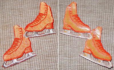 ca Eiskunstlauf Patch Aufbügler Schlittschuh türkis 4,5x5 cm