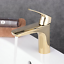 Beelee-Gold-Bathroom-Basin-Monobloc-Solid-Brass-Hot-Cold-Mixer-Tap thumbnail 4