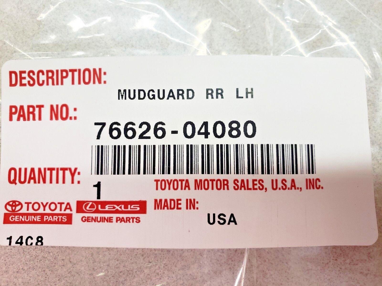 TOYOTA 76625-04080 Mudguard