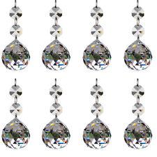 H/&D 20pcs Crystal Glass Ball Chandelier Prisms Pendants Parts Beads Hang 20mm