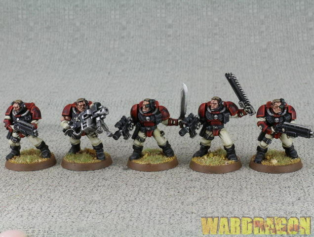 25 mm Warhammer 40K WDS Painted Blood Angels Scout e67