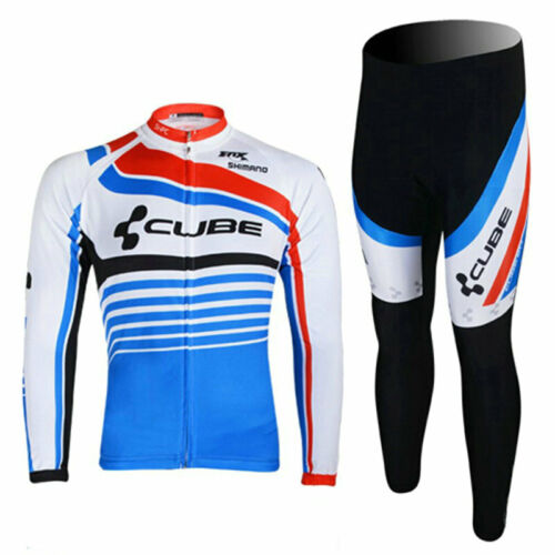 YQ511 New Mens Cycling Mtb Winter Thermal Fleece long sleeve jersey Bib Pants K