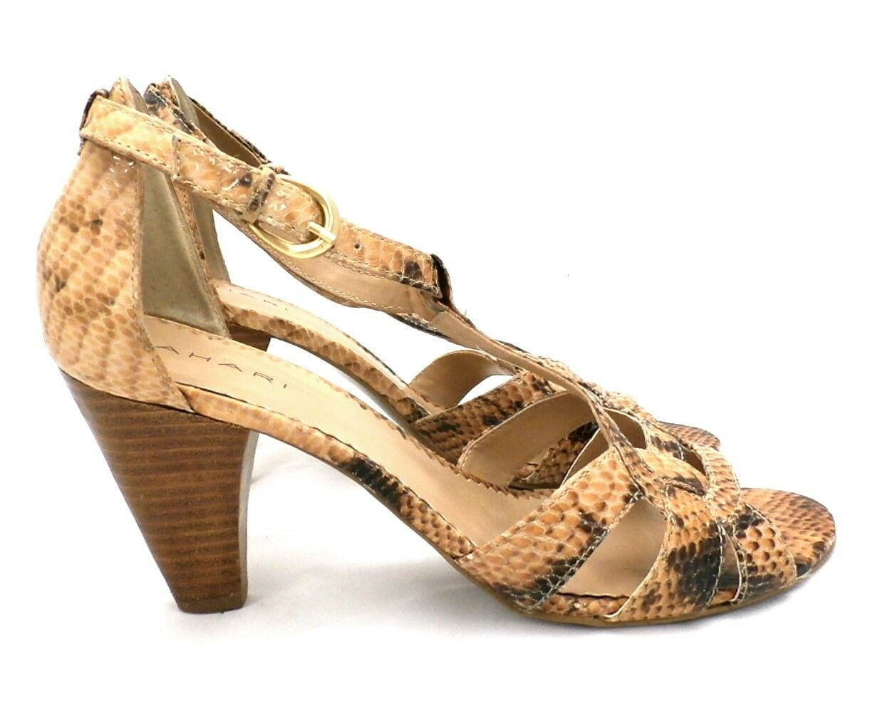 Tahari Dress Giselle Snakeskin Animal Print Dress Tahari Sandals Womens 7B Ankle Strap 509ca3