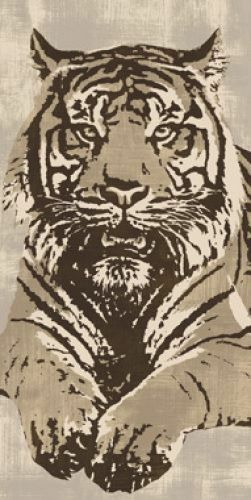 Cooper   Tigre Tableau Prêt 50x100 Tableau Mural Félins Chats Sauvages