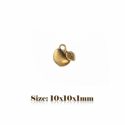20 Bronze Antique style Vintage Apple Charms Pendentif Steampunk 067