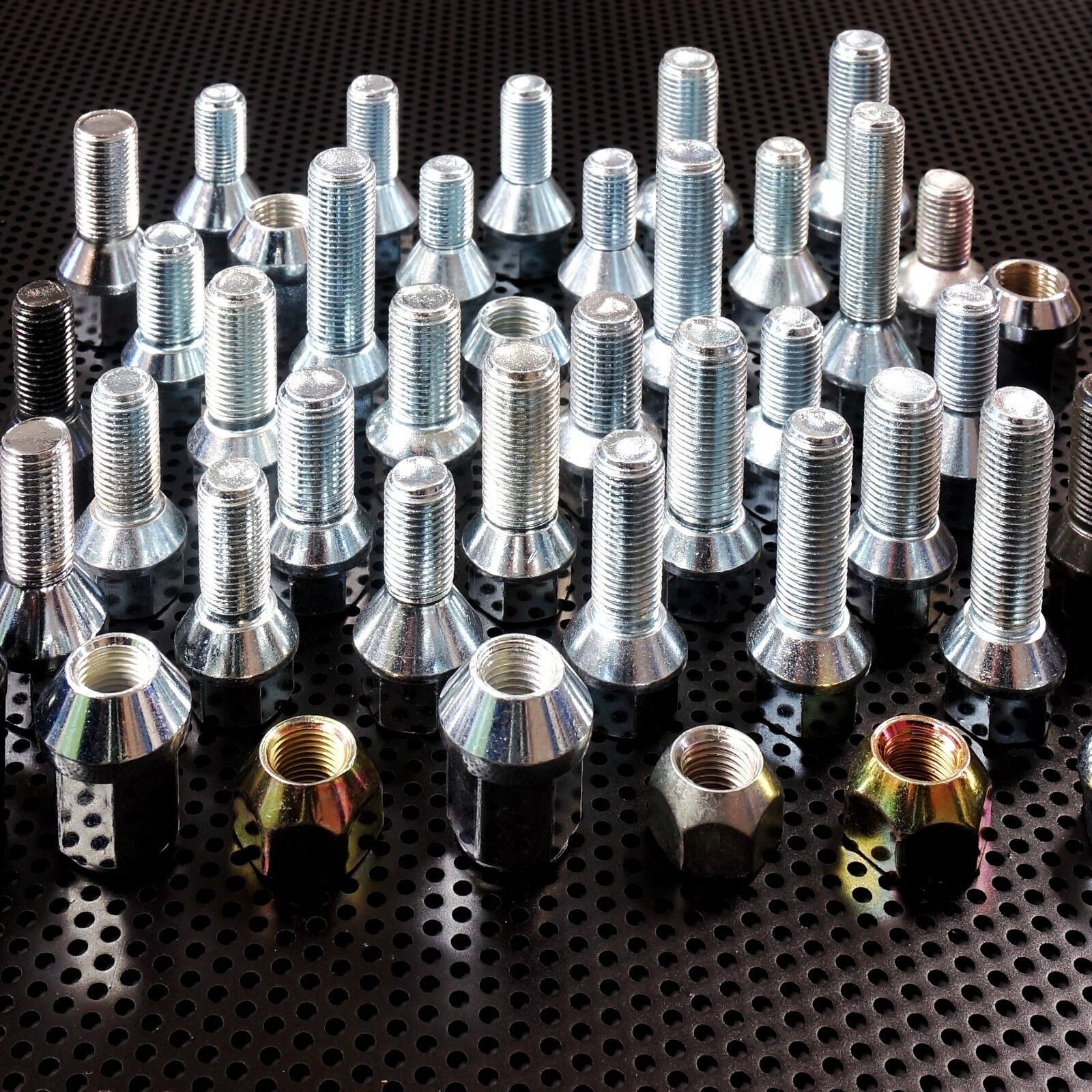 Radschrauben Radbolzen M14 x 1,5 Kegelbund Kugelbund für Alufelgen Stahlfelgen